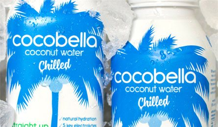 Refreshing chilled coconut water